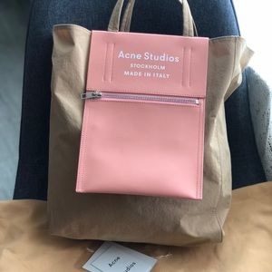 Acne studio medium tote bag brown/pink